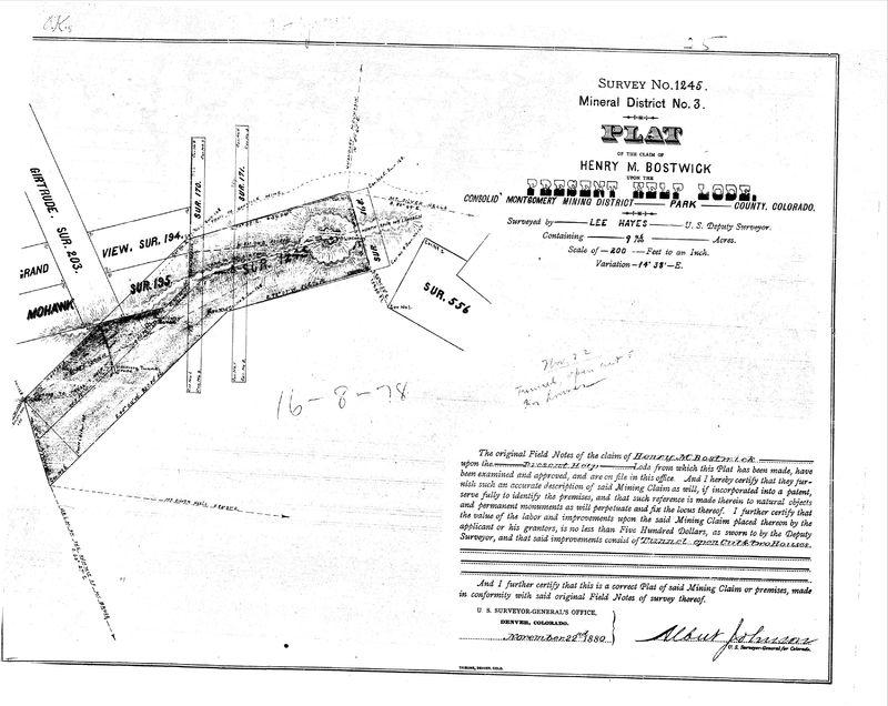 Present Help Mine Survey, 1880