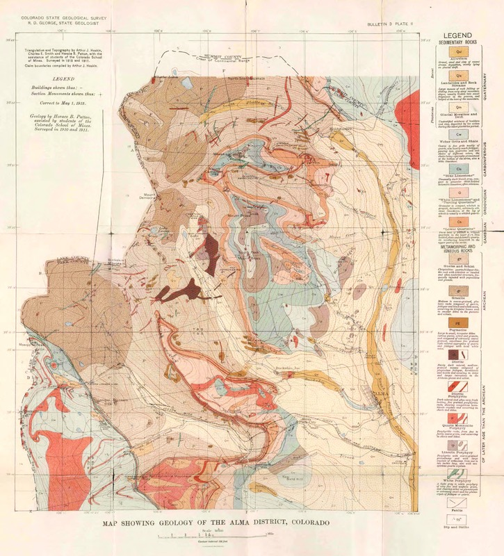 Map Showing Geology of the Alma District, Colorado