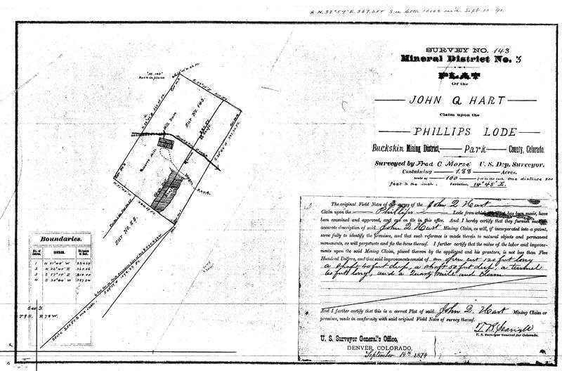 Phillips Lode Survey, 1874