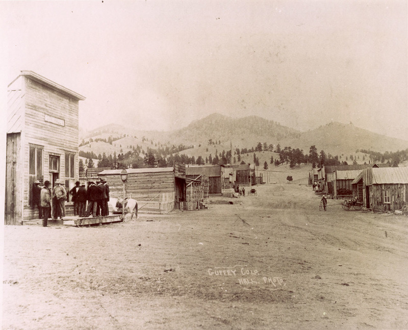 View of rural town in Guffey, Colorado taken in the late 1880s