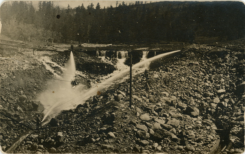 View of Fortune Placer mine
