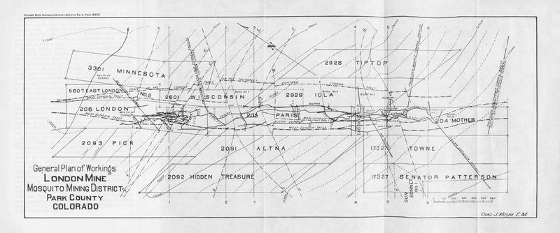 General Plan of Workings London Mine