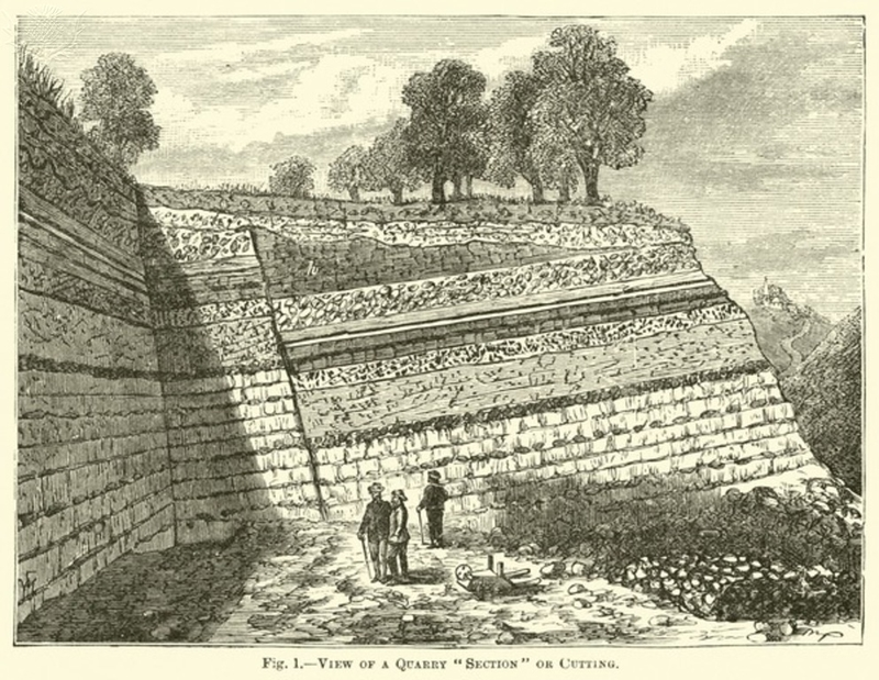 """View of a Quarry """"Section"""" or Cutting (engraving)"""