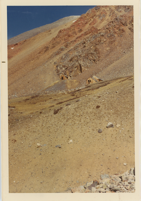 Mine shacks on Mt. Bross at Buckskin Gulch in 1971