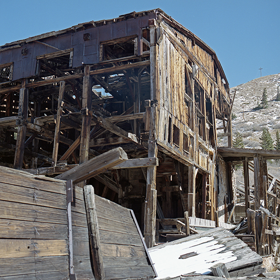 Side View of North London Mill in Mosquito Pass, Park County, Colorado, October 13, 2019<br />