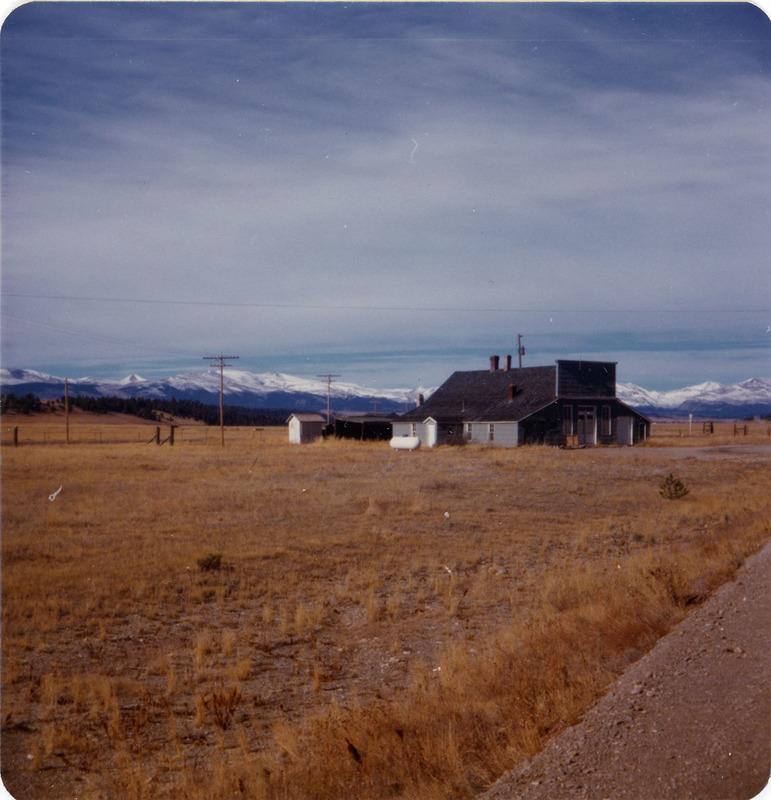 View of building in Garo, Colorado taken on November 18, 1976